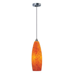 ET2 Lighting - Arzano Pendant - The intersection of class and groovy in the lighting world, add an Arzano Pendant lamp to your home and enjoy the colorful warm light and art objet appeal of the hand-blown glass. Find napkins or accent pillows to match the luster of the color and build a chic look around this stunning hanging lamp.