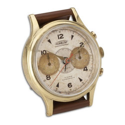 Uttermost - Uttermost 06072  Wristwatch Alarm Round Aureole - Brass rim with leather stand. requires 1-aa battery.