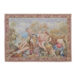 1800GetARug - Aubusson Tapestry Wall Hanging Hand Woven Sh9593 - About European