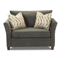 Savvy - Murano Chair Sleeper Sofa, Belsire Pewter, Chair Sleeper, Dreamsleeper Mattress - Murano Chair Sleeper Sofa in Belsire Pewter