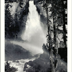 "Amanti Art - ""Nevada Fall, Rainbow, Yosemite National Park, California, 1946"" Framed Print - No one captured the power and glory of nature like the late, great Ansel Adams. Even in black and white, this remarkable rainbow leaves you breathless — and makes a striking statement in your decor."