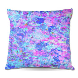 DiaNoche Designs - Pillow Woven Poplin - Julia Di Sanos Time for Bubbly, Again - Toss this decorative pillow on any bed, sofa or chair, and add personality to your chic and stylish decor. Lay your head against your new art and relax! Made of woven Poly-Poplin.  Includes a cushy supportive pillow insert, zipped inside. Dye Sublimation printing adheres the ink to the material for long life and durability. Double Sided Print, Machine Washable, Product may vary slightly from image.