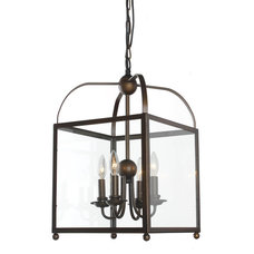 Angelo Antique Copper Lantern Chandelier | Overstock.com