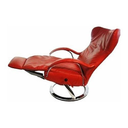 Diva Recliner By Lafer Recliners - The Diva recliner from Lafer has the 3 position foot rest.