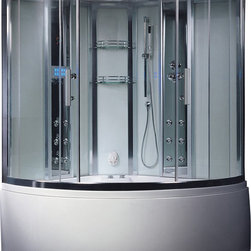 Ariel - Ariel Platinum DA324HF3 Steam Shower with Whirlpool Bathtub 59x59x89 - These fully loaded steam showers include a whirlpool bathtub, massage jets, chromotherapy, aromatherapy and built in FM Radio for Easy Listening s to help increase your therapeutic experience. Dimensions:  59 x 59 x 89, ETL listed (US & Canada electrical safety) 220v, Computer control panel w/ timer for easy use, Steam sauna (3KW generator), 12 Acupressure Body Jets for Massage Therapy   16 whirlpool massage jets (1.2HP pump / 72 gal tub), Handheld and Rainfall Showerhead for Ultimate Experience, Overheat protection, 2 Built-In Seats , Ventilation fan, FM Radio for Easy Listening , 110V Whirlpool Tub System