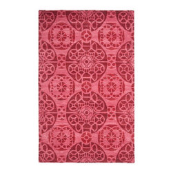 """Safavieh - Twiggy Hand Tufted Rug, Red 8'9"""" X 12' - Construction Method: Hand Tufted. Country of Origin: India. Care Instructions: Vacuum Regularly To Prevent Dust And Crumbs From Settling Into The Roots Of The Fibers. Avoid Direct And Continuous Exposure To Sunlight. Use Rug Protectors Under The Legs Of Heavy Furniture To Avoid Flattening Piles. Do Not Pull Loose Ends; Clip Them With Scissors To Remove. Turn Carpet Occasionally To Equalize Wear. Remove Spills Immediately. Safavieh's artistry is vividly displayed in the Wyndham collection with designs ranging from contemporary florals to traditional global motifs. Each richly-hued rug is hand-tufted by master weavers in India of top quality wool. Several designs recreate the one-of-a-kind look of fashionable over-dyed antique rugs using a special multi-colored yarn that is meticulously colored using ages-old pot dyeing techniques. After the dye is carefully applied to each strand of wool, touches of organic viscose are added for soft silky luster as special highlights accents."""