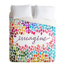 DENY Designs - Garima Dhawan Imagine 1 Duvet Cover - Turn your basic, boring down comforter into the super stylish focal point of your bedroom. Our Luxe Duvet is made from a heavy-weight luxurious woven polyester with a 50% cotton/50% polyester cream bottom. It also includes a hidden zipper with interior corner ties to secure your comforter. it's comfy, fade-resistant, and custom printed for each and every customer.