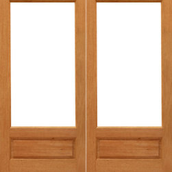 """1-lite-P/B French Brazilian Mahogany Wood 1 Panel IG Glass Double Door - SKU#1-lite-P/B-Ext-2BrandAAWDoor TypeFrenchManufacturer CollectionMahogany French DoorsDoor ModelDoor MaterialWoodWoodgrainMahoganyVeneerPrice1060Door Size Options2(24"""") x 96"""" (4'-0"""" x 8'-0"""")  $02(30"""") x 96"""" (5'-0"""" x 8'-0"""")  $02(32"""") x 96"""" (5'-4"""" x 8'-0"""")  $02(36"""") x 96"""" (6'-0"""" x 8'-0"""")  $0Core TypeSolidDoor StyleDoor Lite Style3/4 Lite , 1 LiteDoor Panel Style1 Panel , Ovolo StickingHome Style MatchingCraftsman , Colonial , Cape Cod , VictorianDoor ConstructionEngineered Stiles and RailsPrehanging OptionsPrehung , SlabPrehung ConfigurationDouble DoorDoor Thickness (Inches)1.75Glass Thickness (Inches)1/2Glass TypeDouble GlazedGlass CamingGlass FeaturesInsulated , Tempered , low-E , Beveled , DualGlass StyleClear , White LaminatedGlass TextureClear , White LaminatedGlass ObscurityNo Obscurity , High ObscurityDoor FeaturesDoor ApprovalsFSCDoor FinishesDoor AccessoriesWeight (lbs)680Crating Size25"""" (w)x 108"""" (l)x 52"""" (h)Lead TimeSlab Doors: 7 daysPrehung:14 daysPrefinished, PreHung:21 daysWarranty1 Year Limited Manufacturer WarrantyHere you can download warranty PDF document."""
