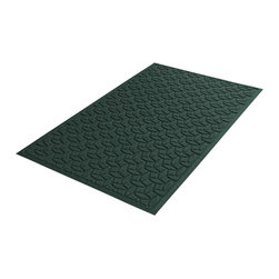 Bungalow Flooring - 36 in. L x 60 in. W Evergreen Waterguard Ellipse Mat - Made to order. Ellipse design traps dirt, resists fading, rot and mildew. Indoor and outdoor use. 36 in. L x 60 in. W x 0.5 in. H