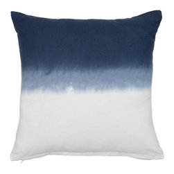 None - Dip-dye Decorative Indoor/ Outdoor Pillow Cover - Taking the ombre effect one step further,we have added this dreamy dip dye design in four must-have shades to our cotton pillow covers that are suitable for indoor or outdoor use and serves as a colorful,fresh,modern update to any room.