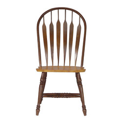 International Concepts - International Concepts Madison Park Windsor Side Chair in Cinnamon/Espresso - International Concepts - Dining Chairs - 1C581206 - Simple. Classic. The International Concepts Windsor chair is a piece that has timeless appeal. Windsor chairs are as popular and sturdy today as they were when they were invented in the late 1700's.