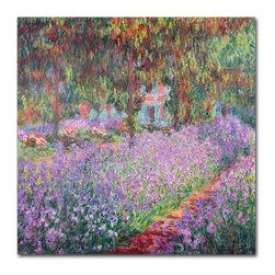 Trademark Fine Art - Claude Monet 'The Artist's Garden at Giverny' Canvas Art - Artist: Claude MonetTitle: The Artist's Garden at GivernyProduct type: Giclee,gallery wrapped