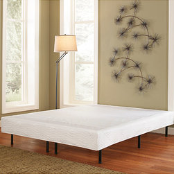 None - Posture Lux Double 14-inch Platform Frame with Cover - This Posture Lux Double Platform bed frame features a durable steel frame comes with an off white cover that gives the appearance of a box spring and bed. This frame supports up to 3000 pounds and is portable and easy to transport.