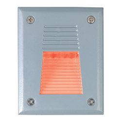 Jesco Lighting - Jesco HG-ST08S-12V-R LED Recessed Wall Aisle and Step Lights - Jesco HG-ST08S-12V-B LED Recessed Wall Aisle and Step Lights