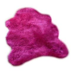 Fur Accents - Shaggy Faux Fur Sheepskin Accent Rug, Hot Pink Shag, 3x5 - Wonderful and Fun, Plush Faux Fur Sheepskin Accent Rug. Soft, Shaggy, Highlighter Hot Pink Shag Fur. Baby Crib and Nursery Design. Luxury Soft Throw Carpet. Made from 100% Animal Free and Eco Friendly Fibers. Hypoallergenic Polyester. Perfect for any room in the houzz. Tastefully lined with Pink Ultra Suede. Luxury, Quality and Unique Style for the Most discriminating decorator / designer.