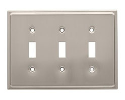 Liberty Hardware - Liberty Hardware 126366 Country Fair WP Collection 6.77 Inch Switch Plate - Sati - A simple change can make a huge impact on the look and feel of any room. Change out your old wall plates and give any room a brand new feel. Experience the look of a quality Liberty Hardware wall plate.. Width - 6.77 Inch,Height - 4.9 Inch,Projection - 0.2 Inch,Finish - Satin Nickel,Weight - 0.35 Lbs