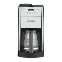 Cuisinart - Cuisinart DGB-550BK Grind-and-Brew 12-cup Automatic Coffeemaker - With its sleek black trim,the Cuisinart DGB-550BK automatic 12-cup coffee machine brings added sophistication to your kitchen counter. This programmable coffee maker features intuitive controls and a brew-pause feature.