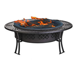 CobraCo FB8008 Diamond Mesh Fire Pit with Screen and Cover - I love the idea of pulling up a bunch of Adirondack chairs and roasting marshmallows around a fire pit. This could take you right through to the fall.