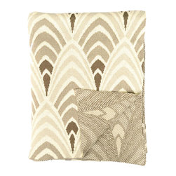 Opulent Ombre Throw - This 100% cotton knitted throw is inspired by Deco design and updated with a contemporary ombre flair. Its classy pale gold tones will provide a lush accent to your golden age-inspired modern home.