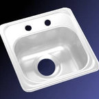 "Lyons Industries - Bar Sink, 15""L x 15""W Single Bowl 6.5"" Deep Acrylic, 3.5"" Drain Opening, White - Lyons Industries Single Bowl white acrylic bar sink 6.5"" deep with two faucet holes on 4"" centers and a 3.5"" drain opening. This standard self rimming 15"" x 15"" sink is easy to install as a remodel or new construction project. This sturdy sink has durable easy to clean high gloss acrylic construction with a fiberglass reinforced insulation backer. This sink is quiet and provides a superior heat retention than other sink materials meaning your water stays warm longer. Lyons sinks come with a simple mounting tab and clip system to firmly fasten the sink to the countertop and reinforced drain areas for safely supporting a garbage disposal. Detailed installation instructions include the cut-out specifications. Lyons sinks are proudly Made in America by experienced artisans supporting our economy."