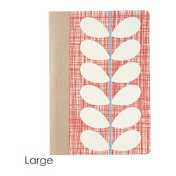 Orla Kiely Large Composition Book - Nothing makes you want to take notes and get organized like a cute Orla Kiely composition book, but most people won't splurge and pay $12.00 for a notebook. Let your pal know that they are worth it.