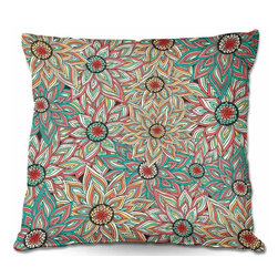 DiaNoche Designs - Pillow Woven Poplin from DiaNoche Designs by Pom Graphic Design - Floral Epoque - Toss this decorative pillow on any bed, sofa or chair, and add personality to your chic and stylish decor. Lay your head against your new art and relax! Made of woven Poly-Poplin.  Includes a cushy supportive pillow insert, zipped inside. Dye Sublimation printing adheres the ink to the material for long life and durability. Double Sided Print, Machine Washable, Product may vary slightly from image.