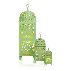 Casablanca Lanterns, Mint - These get me excited for the first outdoor entertaining of spring.
