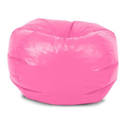 "Comfort Research - Classic 88"" Hot Pink Vinyl Bean Bag - Things are only called ""classics"" after they've proven themselves, after they've been tried and tested for years. With a classic, you know what you're going to get and you can rest assured that you're going to like it. The 88"" Classic is exactly that. Dependable, reliable, good old fashion comfort. It's the bean bag you grew up with."