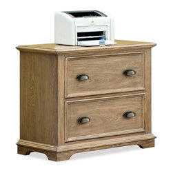 Riverside Furniture - Coventry Lateral File Cabinet (Weathered Driftwood) - Finish: Weathered Driftwood