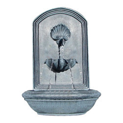 The Napoli Wall Fountain, Slate Grey - The Napoli Wall Fountain is a centerpiece of serenity and beauty of nature for your garden or outdoor space. This fountain brings tranquility and serenity through its flowing sounds and a feeling of being one with nature.