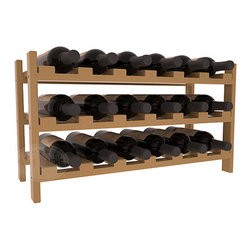 Wine Racks America - 18 Bottle Stackable Wine Rack in Ponderosa Pine, Oak + Satin Finish - Expansion to the next level! Stack these 18 bottle kits as high as the ceiling or place a single one on a counter top. Designed with emphasis on function and flexibility, these DIY wine racks are perfect for young collections and expert connoisseurs.