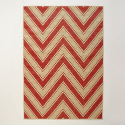 Red Chevron Indoor/Outdoor Rug - Chevron prints are super popular right now, and this rug is no exception. The jute material gives it a fresh look that's perfect for outdoors.