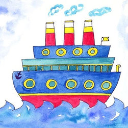 Oh How Cute Kids by Serena Bowman - Oceanliner, Ready To Hang Canvas Kid's Wall Decor, 20 X 24 - Each kid is unique in his/her own way, so why shouldn't their wall decor be as well! With our extensive selection of canvas wall art for kids, from princesses to spaceships, from cowboys to traveling girls, we'll help you find that perfect piece for your special one.  Or you can fill the entire room with our imaginative art; every canvas is part of a coordinated series, an easy way to provide a complete and unified look for any room.