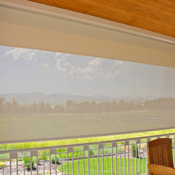 Tan Outdoor Shades block the sun - The sun can be overwhelming at times with the brightness and high temperatures.  Shades are also a great way to block harmful ultra-violet rays to protect your hardwood flooring, furniture and artwork from fading. There are different types of shades that were engineered to solve a specific dilemma.