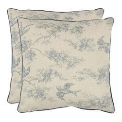 Safavieh - Katie Accent Pillow  - Blue - Katie Accent Pillow  - Blue
