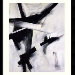 Amanti Art - Black and White Framed Print by Eva Carter - Make a bold statement with this print from artist Eva Carter. Vibrant strokes of black and white create a dramatic pattern, sure to bring energy to your wall!