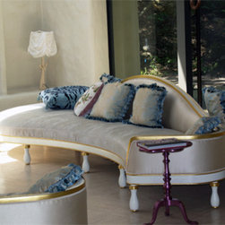 Wappo Hill Estate - Custom double sided modern take on a Neoclassical sofa.