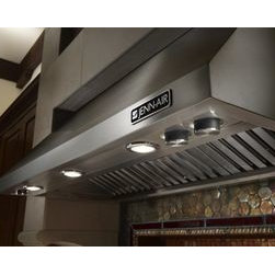 """Jenn-Air® Ventilation Options - The Jenn-Air® 48"""" Pro-Style™ Wall-Mount Hood will complement any high-heat, commercial-style cooking appliance while powerfully clearing the air of smoke, steam and cooking odors."""