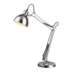 Dimond Lighting - Dimond Lighting D2176 Ingelside 1 Light Desk Lamps in Chrome - Ingelside Desk Lamp in Chrome with Chrome Shade