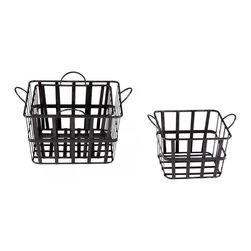 """Joshua Marshal - Raw Steel 16.5"""" Wire Grocery Basket - Raw Steel 16.5"""" Wire Grocery Basket"""