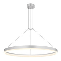 "Sonneman Lighting - Sonneman Lighting 2317.16 Corona 32"" LED Pendant Light In Bright Satin Aluminum - Sonneman Lighting 2317.16 Corona 32"" Led Pendant Light In Bright Satin Aluminum"