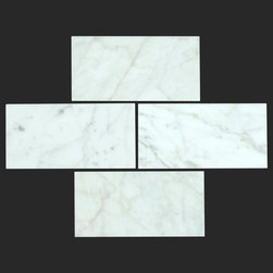 Bianco Carrara White Marble Carrera 3x6 Subway Tile - The Bianco Carrara collection or white Carrara Collection allows you to play with colors for your interior. Besides getting a lovely option of pure white on tile, this collection also features a white grey hue to try. With these two colors you can create a modern or classic looking theme in your home according to preference.
