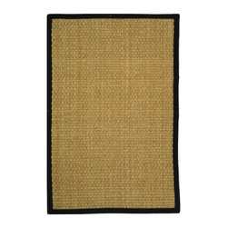 Safavieh - Safavieh Natural Fiber Casual Rug X-9-C411FN - Hand-woven with natural sea grass, this casual area rug is innately soft and durable. This densely woven rug will add a warm accent and feel to any home. The 100-percent Cotton canvas backing adds durability.