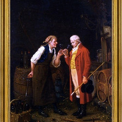 "Jan David Col-18""x24"" Framed Canvas - 18"" x 24"" Jan David Col In The Wine Cellar framed premium canvas print reproduced to meet museum quality standards. Our museum quality canvas prints are produced using high-precision print technology for a more accurate reproduction printed on high quality canvas with fade-resistant, archival inks. Our progressive business model allows us to offer works of art to you at the best wholesale pricing, significantly less than art gallery prices, affordable to all. This artwork is hand stretched onto wooden stretcher bars, then mounted into our 3"" wide gold finish frame with black panel by one of our expert framers. Our framed canvas print comes with hardware, ready to hang on your wall.  We present a comprehensive collection of exceptional canvas art reproductions by Jan David Col."