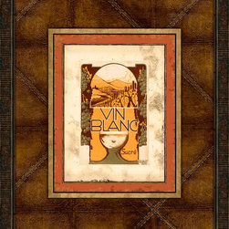Melissa Van Hise - Melissa Van Hise Vintage Wine Labels II Framed Leather Wall Art -