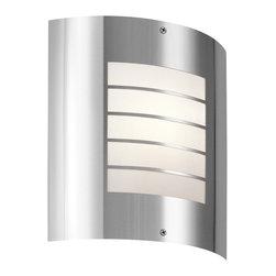 Kichler Lighting - Kichler Lighting 6040PSS316 Newport Stainless Steel Outdoor Wall Sconce - 1 Bulb, Bulb Type: 30 Watt Medium; Weight: 2.20lbs
