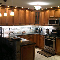 Light Brown Kitchen Cabinets  | Sandstone Rope Door  |  Kitchen Cabinet Kings - Light Brown Kitchen Cabinets  | Sandstone Rope Door  |  Kitchen Cabinet Kings