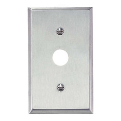 "Renovators Supply - Switchplates Brushed Stainless Steel 5/8"" ID Phone Switch Plate - Switchplates: It only takes a moment to reinvigorate a room with these Stainless Steel wallplates."