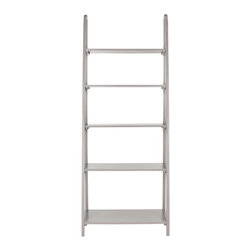Safavieh - Albert Etagere - Grey - Inspired by the classic library ladder, the Albert etagere has a contemporary A-line profile with five shelves that increase to a slim 15.9 inches at the base. An ideal storage solution for the contemporary interior, Albert's clean lines and geometric form make it a modern classic in pine wood in painted grey finish.