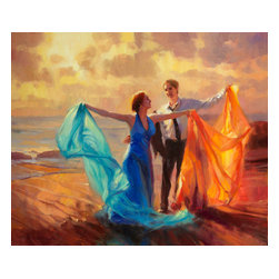 Steve Henderson Fine Art - Evening Waltz Artwork -- Original Oil Painting - Original Oil Painting on canvas, 30 inches high by 36 inches wide. Gallery Wrapped -- no frame needed -- and ready to hang.  This is the original painting of a licensed work.